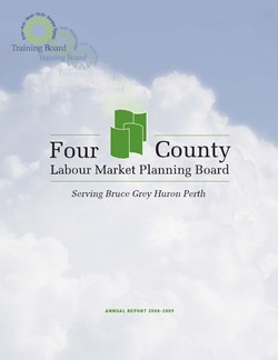 Annual Report 2008-2009 - Four County Labour Market Planning Board