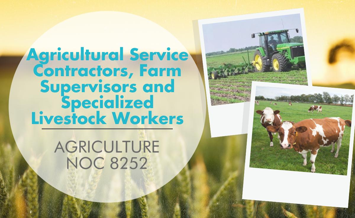 Agricultural Service Contractors, Farm Supervisors and Specialized Livestock Workers